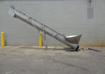 used screw auger conveyor prior to rebuild by Kohler Industries